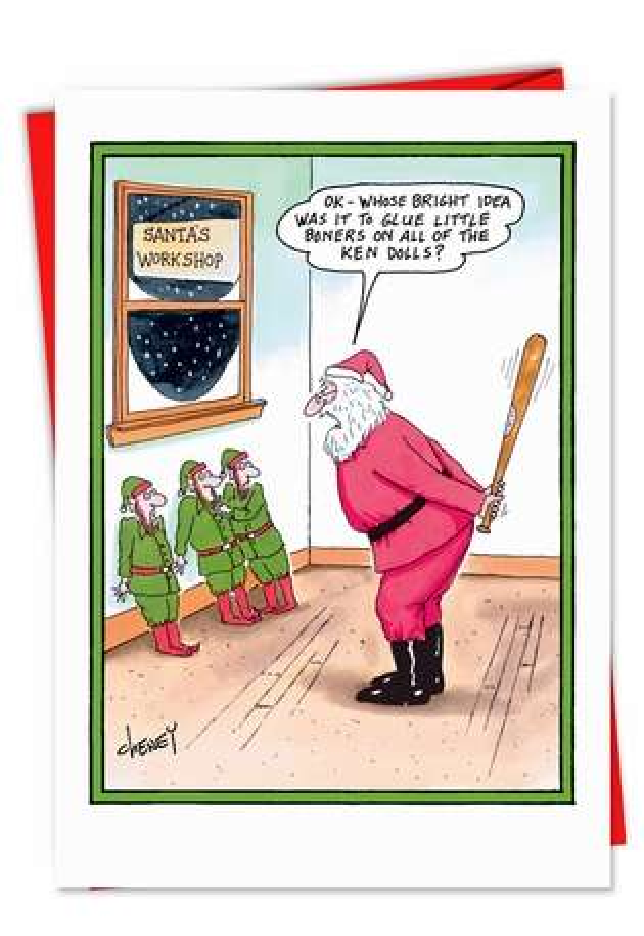 Boners On Ken Dolls Christmas Card