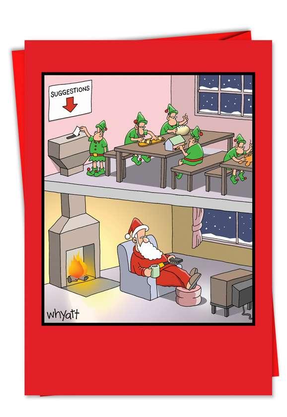 Santa Suggestion Funny Christmas Card