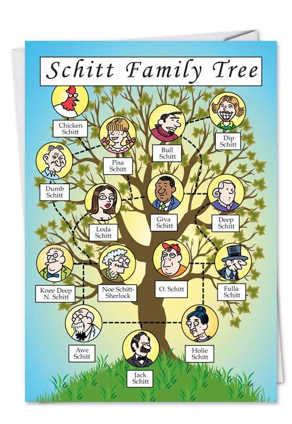 Schitt Family Tree Funny Birthday Card