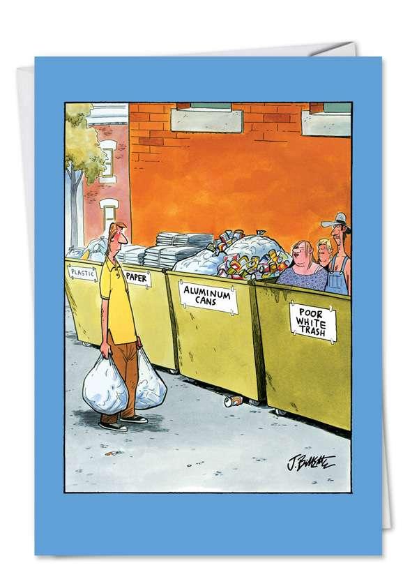 White Dumpster Funny Birthday Card