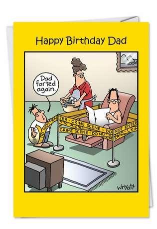 Farted Again Funny Birthday Card