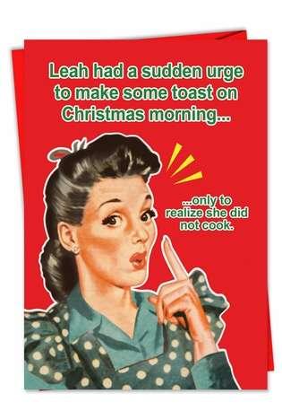 Make A Toast Funny Christmas Greeting CardNobleworks