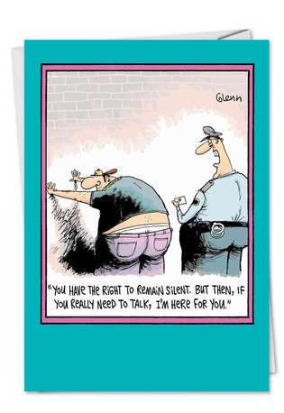 Concerned Cop Funny Birthday Card