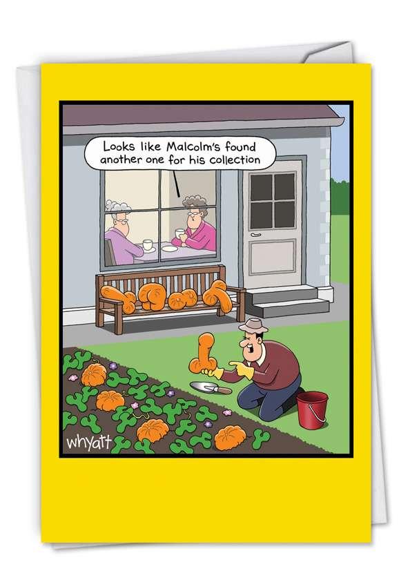 Rude Vegetables Cartoons Retirement Greeting Card By Tim Whyatt