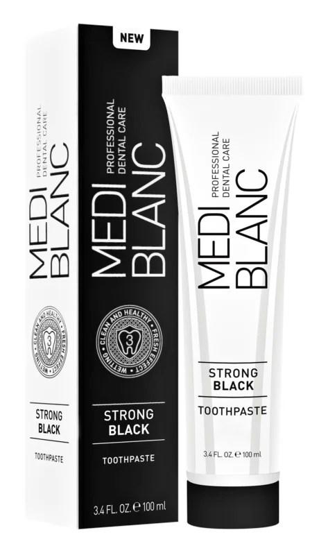 MEDIBLANC Strong Black Pasta de dinti protectie complexa cu efect de albire 2