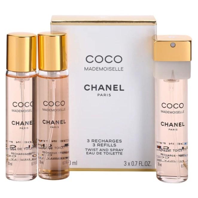 Chanel Coco Mademoiselle toaletní voda (3 x náplň) pro ženy 3x20 ml