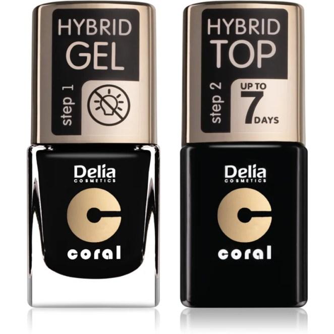 Delia Cosmetics Coral Nail Enamel Hybrid Gel kosmetická sada pro ženy odstín 26