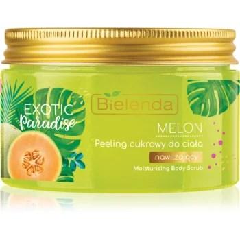 Bielenda Exotic Paradise Melon Exfoliant hidratant din zahar