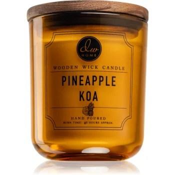 DW Home Pineapple Koa lumânare parfumată cu fitil din lemn