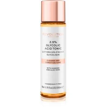 Revolution Skincare 2,5% Glycolic Acid Tonic tonic pentru curățarea tenului Cu AHA Acizi