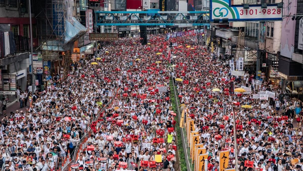 【直播回放】香港反「送中」大遊行 | 反送中 | 逃犯條例 | 香港返送中 | 新唐人中文電視臺在線