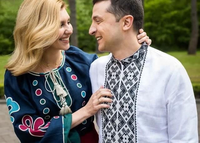 Зеленские поздравили украинцев с Днем вышиванки ярким фото