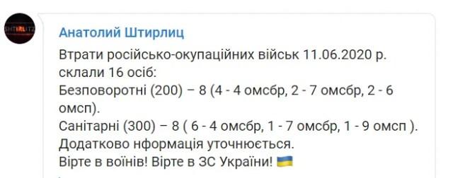 Потери российско-оккупационных войск
