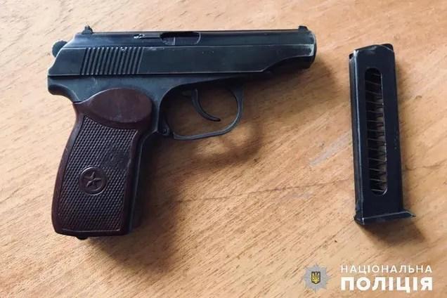 Пістолет, з якого стріляв експоліцейський