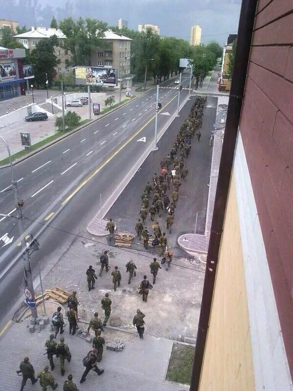 Перший візит терористів в Донецьк