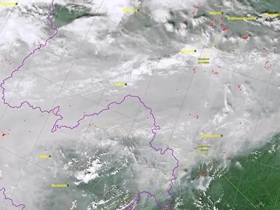 Пожар в Сибири показали из космоса: фото - новости России