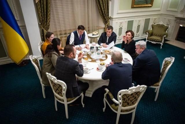 Встреча премьера Алексея Гончарука, министров и представителей Национального банка Украины