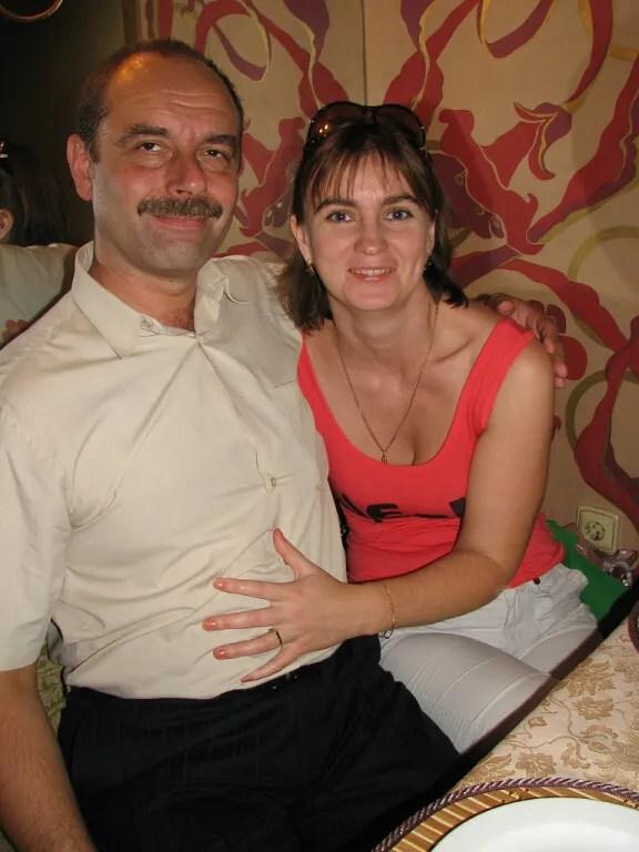 Іван Венжинович із дружиною.