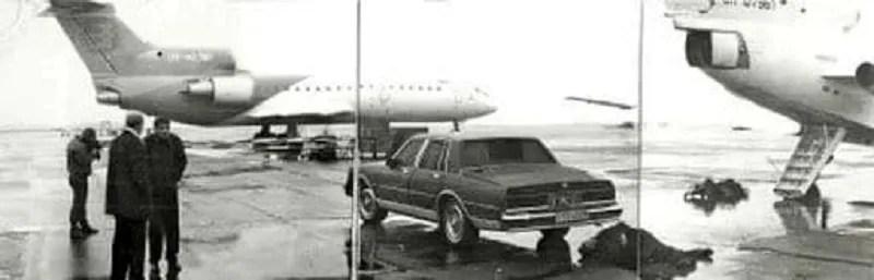 """3 листопада 1996 року. День вбивства Щербаня. На фото можна помітити той самий """"Шевроле"""" та літак олігарха"""