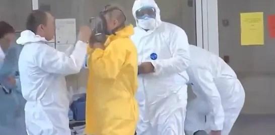 Путин в больнице Коммунарки
