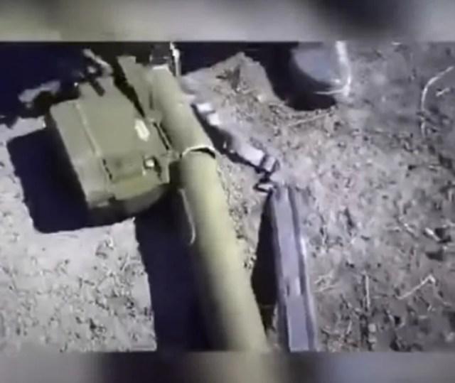 Снаряд улетел вместе с комплексом.