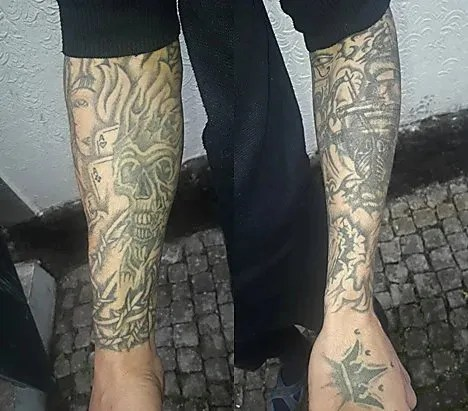Татуювання на руках розшукуваного Руслана Шевченка
