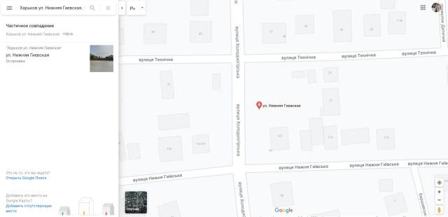 Место трагедии на карте Харькова
