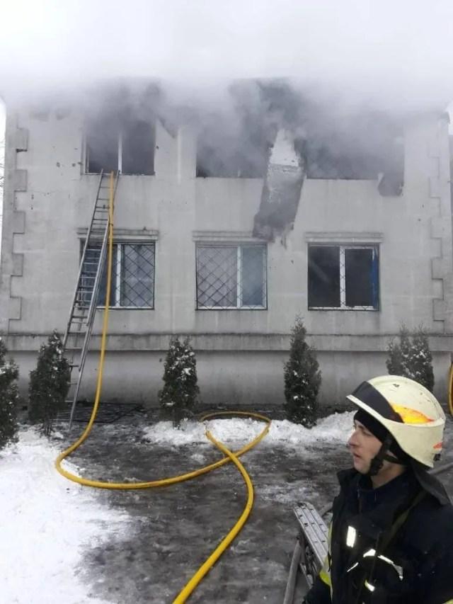 Пожар в Харькове в доме престарелых