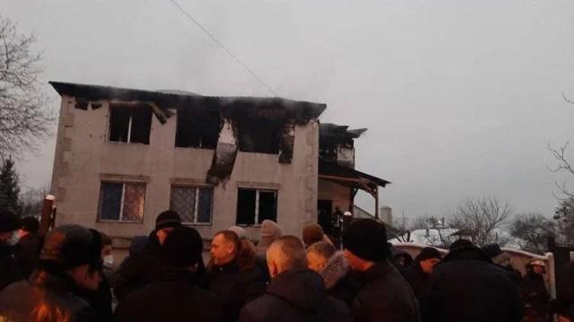 Место трагедии в Харькове