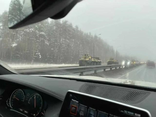 Бронетехника около Москвы