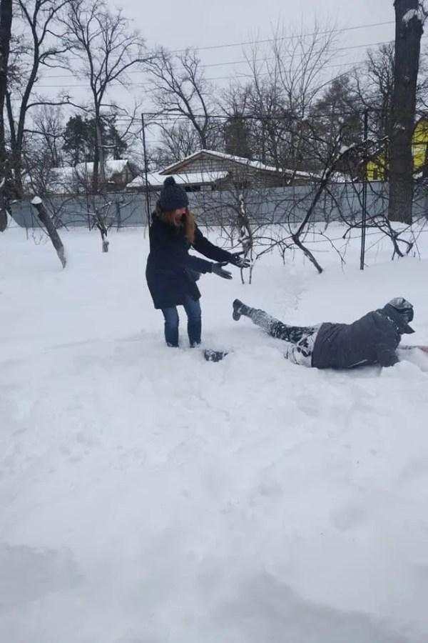 Савченко в снегу показала, как праздновала День Валентина ...