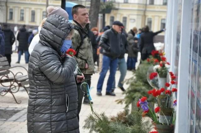 Вшанування українських захисників на Михайлівській площі