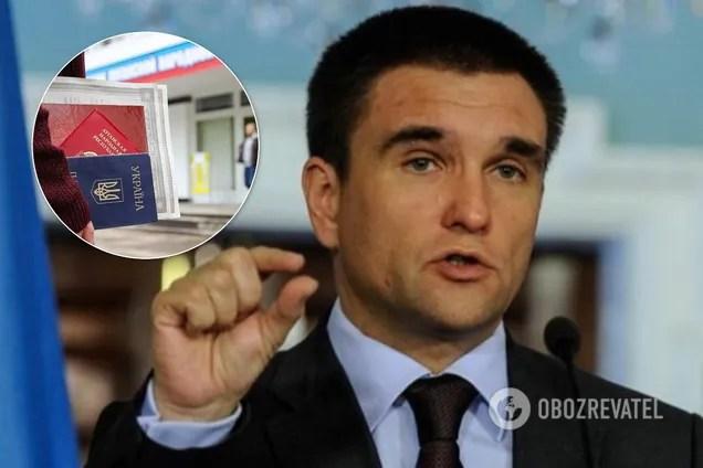 Климкин считает, что выдача Россией паспортов жителям ОРДЛО – самое опасное, что сейчас происходит на Донбассе