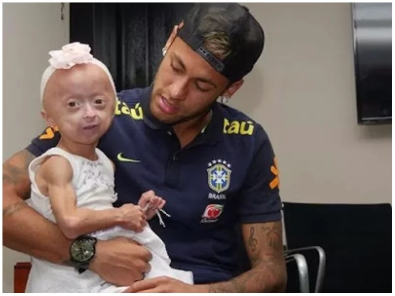 Dream come true! Disabled girl whose wish was to meet Brazilian star Neymar finally meets him