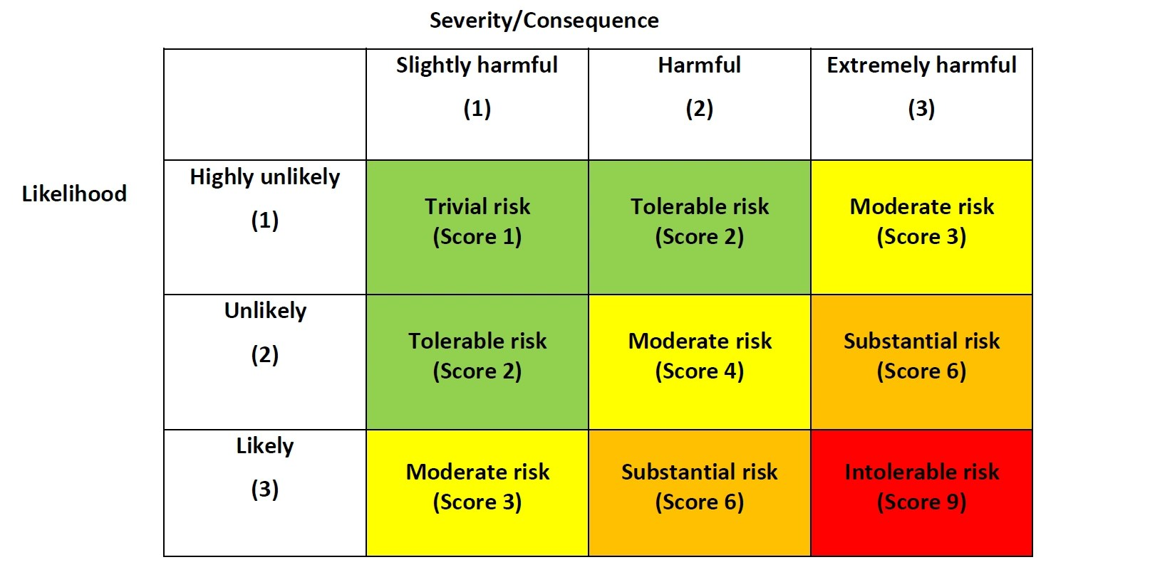 Risk Assessment Example By Health Amp Safety Executives