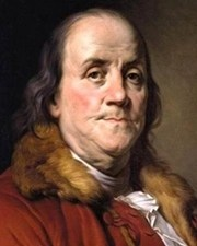 United States Founding Father Benjamin Franklin