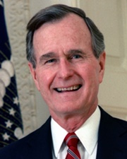 US President George H. W. Bush