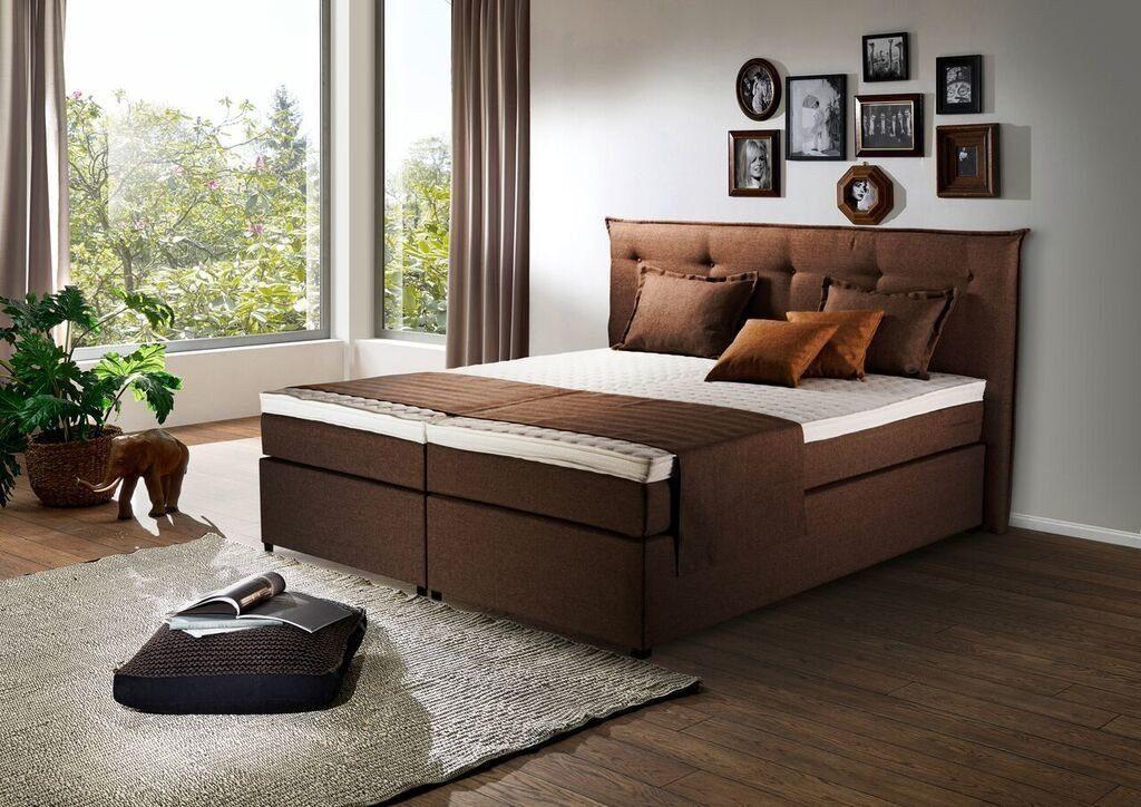 Kasper-Wohndesign Boxspringbett Stoff Überlänge Versch