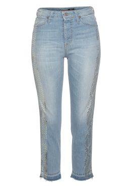 Please Jeans Ankle-Jeans »P66MB« mit seitlichem Schlangen-Print