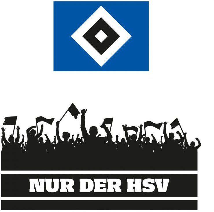 wall art wandtattoo nur der hsv fans und logo 1 stuck online kaufen otto