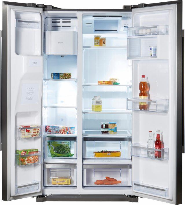 neff side-by-side koelkast ka3902i20, a+, 177 cm hoog, no frost zilver