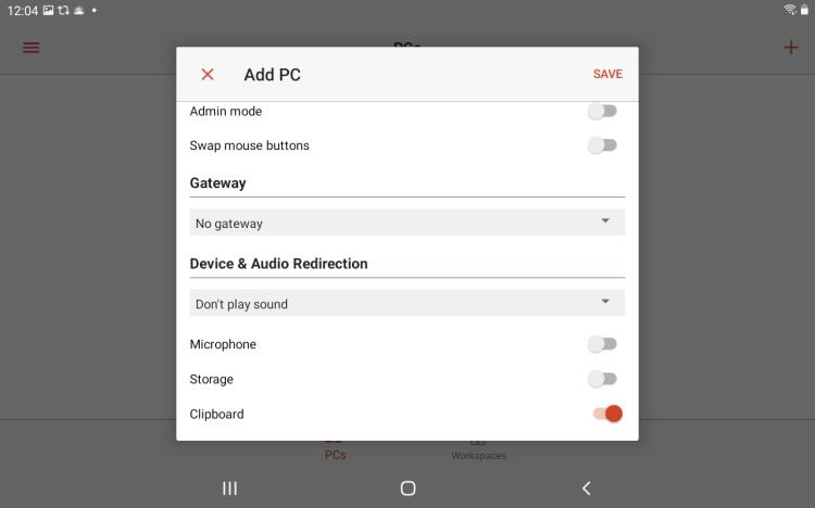 add pc settings
