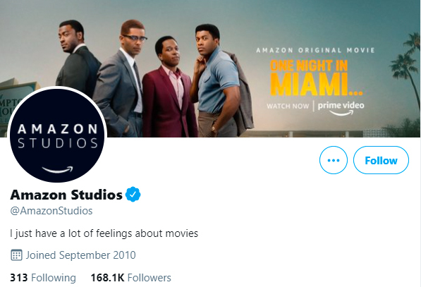 Amazon studios Twitter page image