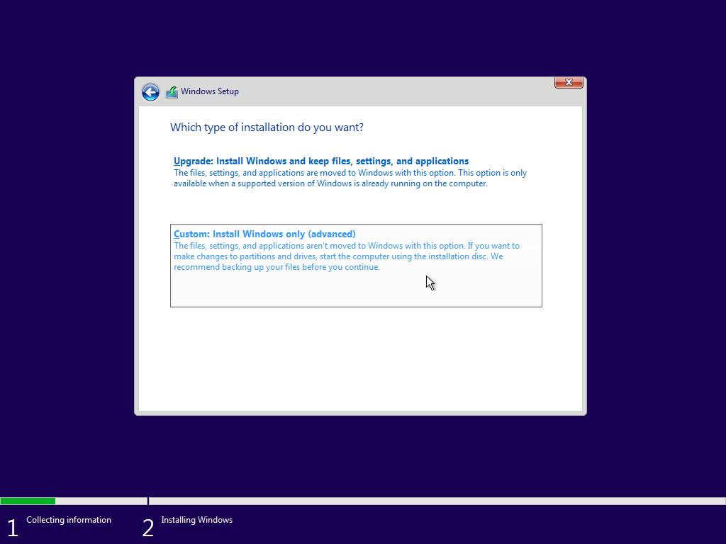 install windows