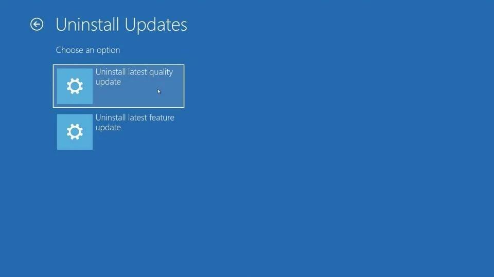 uninstall update