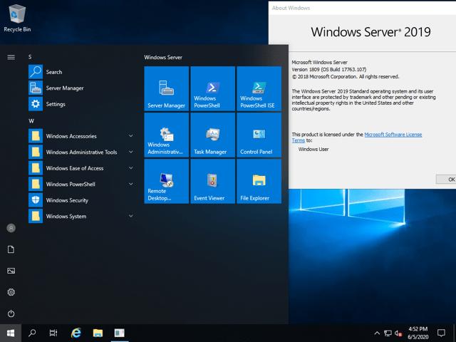 Windows Server has a familiar interface