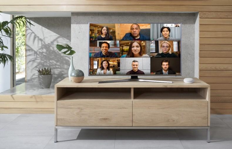 Google Meet on w TV