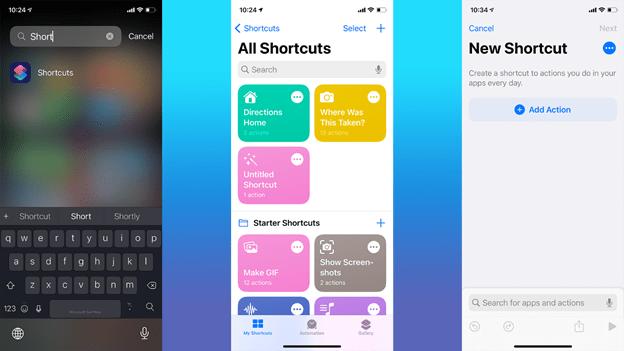 Create a shortcut in ios 14
