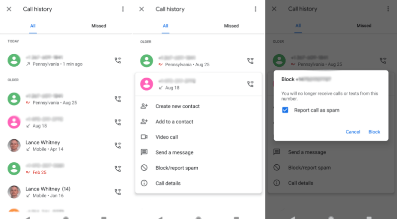 Block Specific Numbers on Android