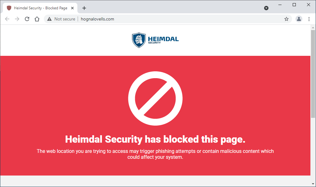 Блокировка домашнего фишинга Heimdal Threat Prevention
